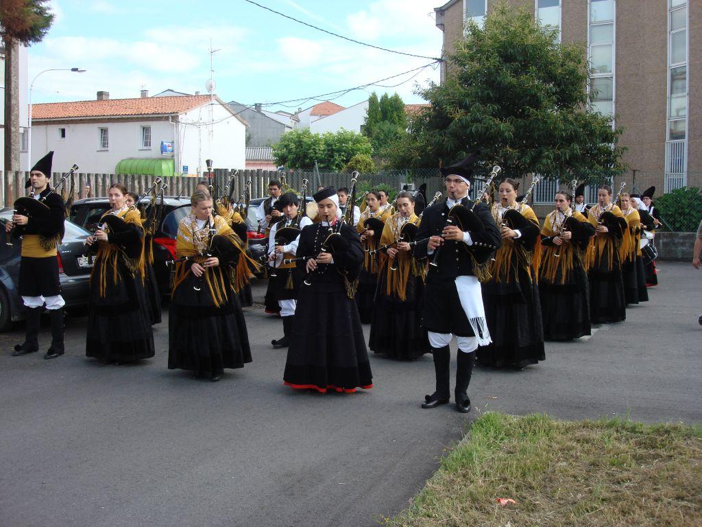 Preparación Banda para desfile Ortigueira