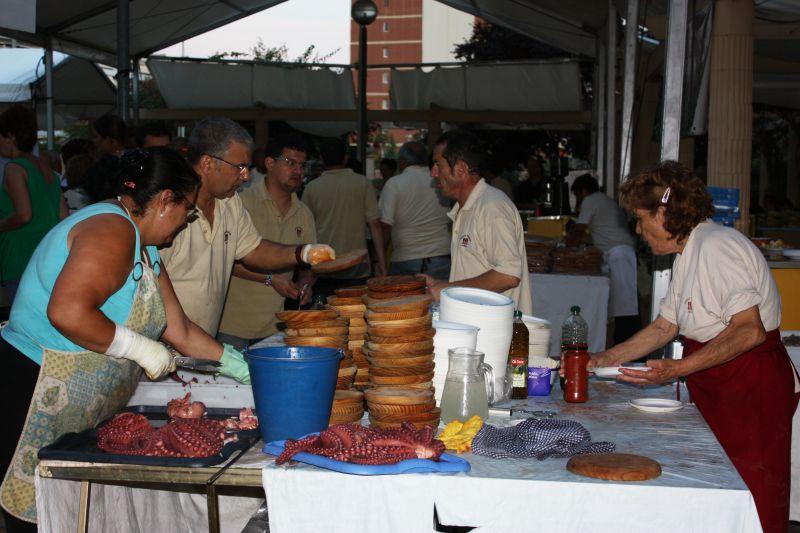 Muestras gastronómicas de la fiesta